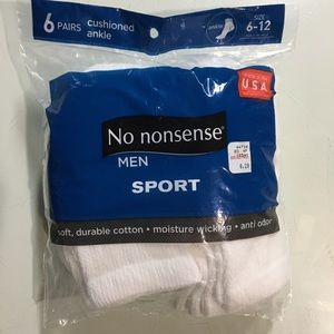 Other - 👑 3/$9 👑 New 6-Pack Men's Cushioned Ankle Socks